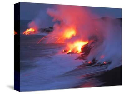 Lava from the Kilauea Volcano--Stretched Canvas Print