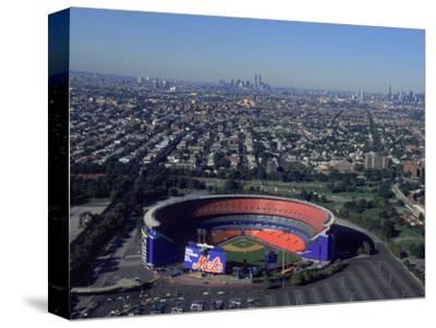 Shea Stadium, Aerial View, Ny Mets-Bruce Clarke-Stretched Canvas Print