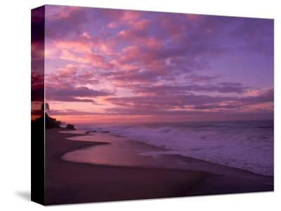 Sunset and the Ocean, CA-Mitch Diamond-Stretched Canvas Print