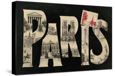 Postcard from Paris-Hugo Wild-Stretched Canvas Print