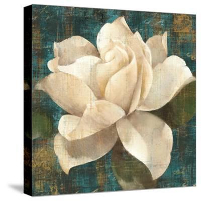 Gardenia Blossom Turquoise-Albena Hristova-Stretched Canvas Print