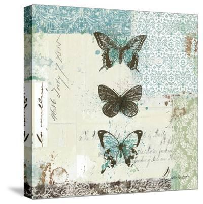 Bees n Butterflies No. 2-Katie Pertiet-Stretched Canvas Print