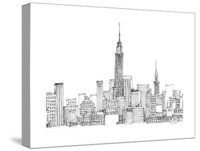 New York Skyline Crop-Avery Tillmon-Stretched Canvas Print
