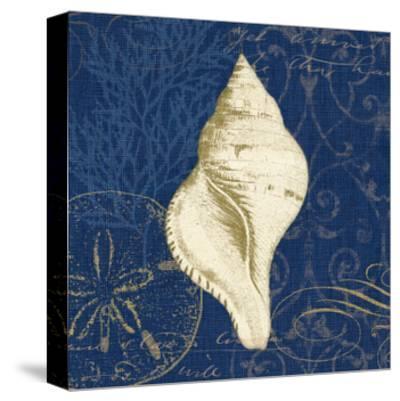 Coastal Moonlight IV Teal Center-Pela Design-Stretched Canvas Print