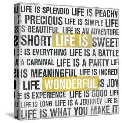 Life Is Yellow-Michael Mullan-Stretched Canvas Print