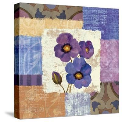 Tiled Poppies II-Silvia Vassileva-Stretched Canvas Print