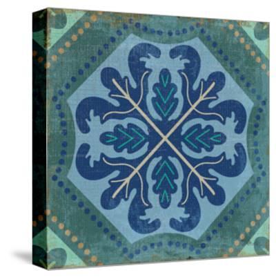 Santorini Tile II-Pela Design-Stretched Canvas Print
