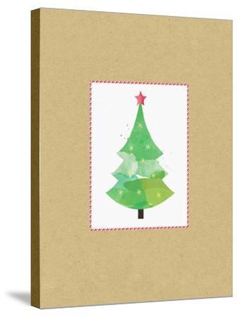 Tree on Kraft 2-Linda Woods-Stretched Canvas Print