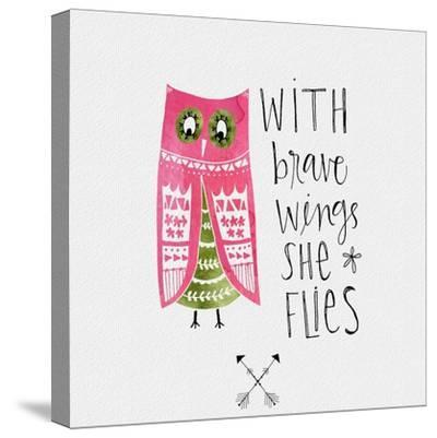 Brave Wings-Katie Doucette-Stretched Canvas Print