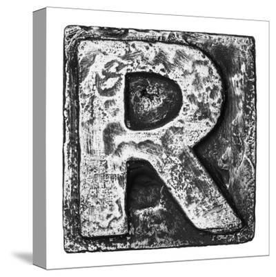 Metal Alloy Alphabet Letter R-donatas1205-Stretched Canvas Print