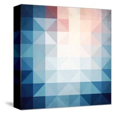 Abstract Blue Triangles Geometry-art_of_sun-Stretched Canvas Print
