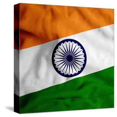 India Cloth Flag-Graphic Design Resources-Stretched Canvas Print