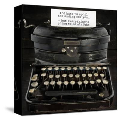 Old Antique Typewriter With Text-Anna-Mari West-Stretched Canvas Print