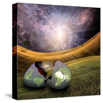 Earth Egg Is Hatched-rolffimages-Stretched Canvas Print