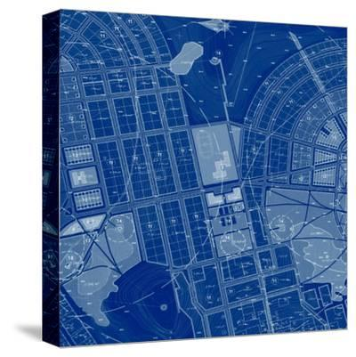 Blue Drawing-Andreyuu-Stretched Canvas Print