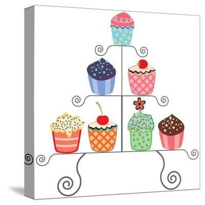 Cupcakes On A Stand-dmstudio-Stretched Canvas Print