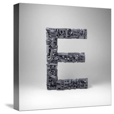 Letter E-badboo-Stretched Canvas Print
