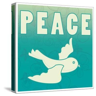 Peace-larJoka-Stretched Canvas Print