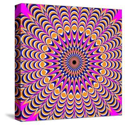 Psychedelic Pink-Nemosdad-Stretched Canvas Print
