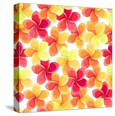 Background with Colorful Flowers-Naddiya-Stretched Canvas Print