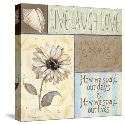 Live Laugh Love-Jo Moulton-Stretched Canvas Print