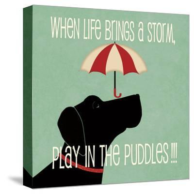 Puddles-Jo Moulton-Stretched Canvas Print