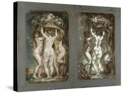Two Studies for 'The Three Graces'-Louis Anquetin-Stretched Canvas Print