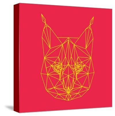 Bobcat Polygon 2-Lisa Kroll-Stretched Canvas Print