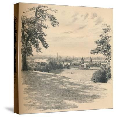 Greenwich Palace from Observatory Hill, 1902-Thomas Robert Way-Stretched Canvas Print