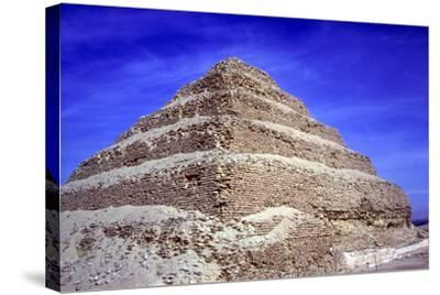 Step Pyramid of King Djoser (Zozer), Saqqara, Egypt, 3rd Dynasty, C2600 Bc- Imhotep-Stretched Canvas Print