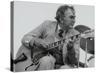 American Guitarist Bucky Pizzarelli on Stage at the Capital Radio Jazz Festival, London, 1979-Denis Williams-Stretched Canvas Print