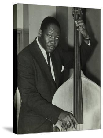 Portrait of American Double Bass Player Curtis Counce, C1950S-Denis Williams-Stretched Canvas Print