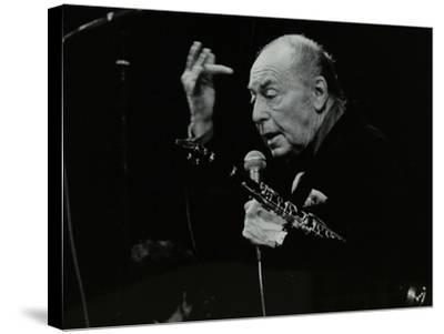 Woody Herman on Stage at the Forum Theatre, Hatfield, Hertfordshire, 24 May 1983-Denis Williams-Stretched Canvas Print