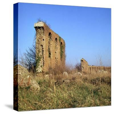 Roman Aqueduct Near the Appian Way, 4th Century Bc-CM Dixon-Stretched Canvas Print