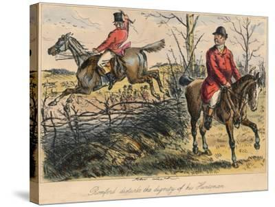 Romford Disturbs the Dignity of His Huntman, 1865-Bradbury, Evans and Co-Stretched Canvas Print