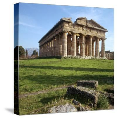 The So-Called Temple of Neptune at Paestum, 5th Century Bc-CM Dixon-Stretched Canvas Print
