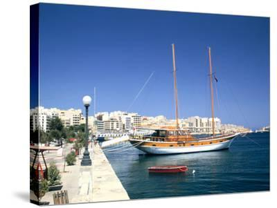 Waterfront of Sliema, Malta-Peter Thompson-Stretched Canvas Print