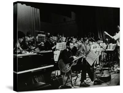 Michael Garrick Conducting an Orchestra at Berkhamsted Civic Centre, 1985-Denis Williams-Stretched Canvas Print