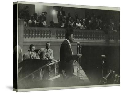 The Count Basie Orchestra in Concert, C1950S-Denis Williams-Stretched Canvas Print