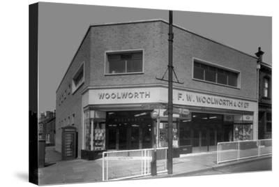 Woolworths Store, Parkgate, Rotherham, South Yorkshire, 1957-Michael Walters-Stretched Canvas Print