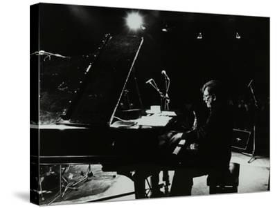 American Pianist Dick Wellstood Playing at Potters Bar, Hertfordshire, 1986-Denis Williams-Stretched Canvas Print