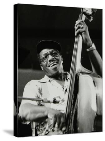 Bassist Major Holley, Beaulieu, Hampshire, July 1977-Denis Williams-Stretched Canvas Print