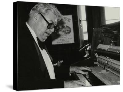 Nat Pierce at the Piano, London, 1984-Denis Williams-Stretched Canvas Print