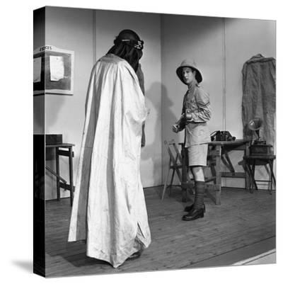 A Scene from the Terence Rattigan Play, Ross, Worksop College, Nottinghamshire, 1963-Michael Walters-Stretched Canvas Print