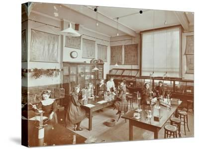 Science Class, Aristotle Road Girls School, Clapham, London, 1908--Stretched Canvas Print