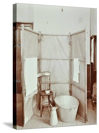 Improvised Bathroom, Shoreditch Technical Institute, London, 1907--Stretched Canvas Print