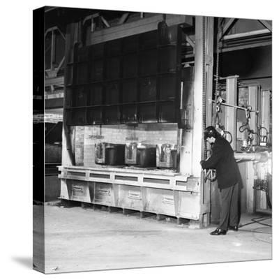 The Small Ingot Furnace, Park Gate Iron and Steel Co, Rotherham, South Yorkshire, 1964-Michael Walters-Stretched Canvas Print