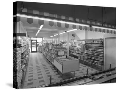 Self Service Shopping, Carlines Store, Goldthorpe, South Yorshire, 1961-Michael Walters-Stretched Canvas Print