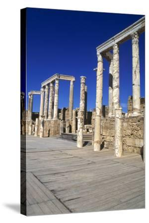 Theatre, Leptis Magna, Libya, 1-2 Ad-Vivienne Sharp-Stretched Canvas Print