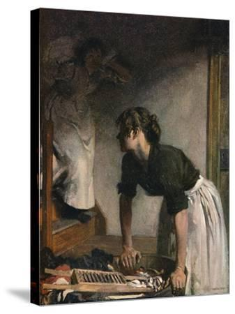 The Wash-House, 1905,-William Newenham Montague Orpen-Stretched Canvas Print